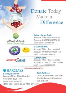Hijaz Hospital Donation Banks